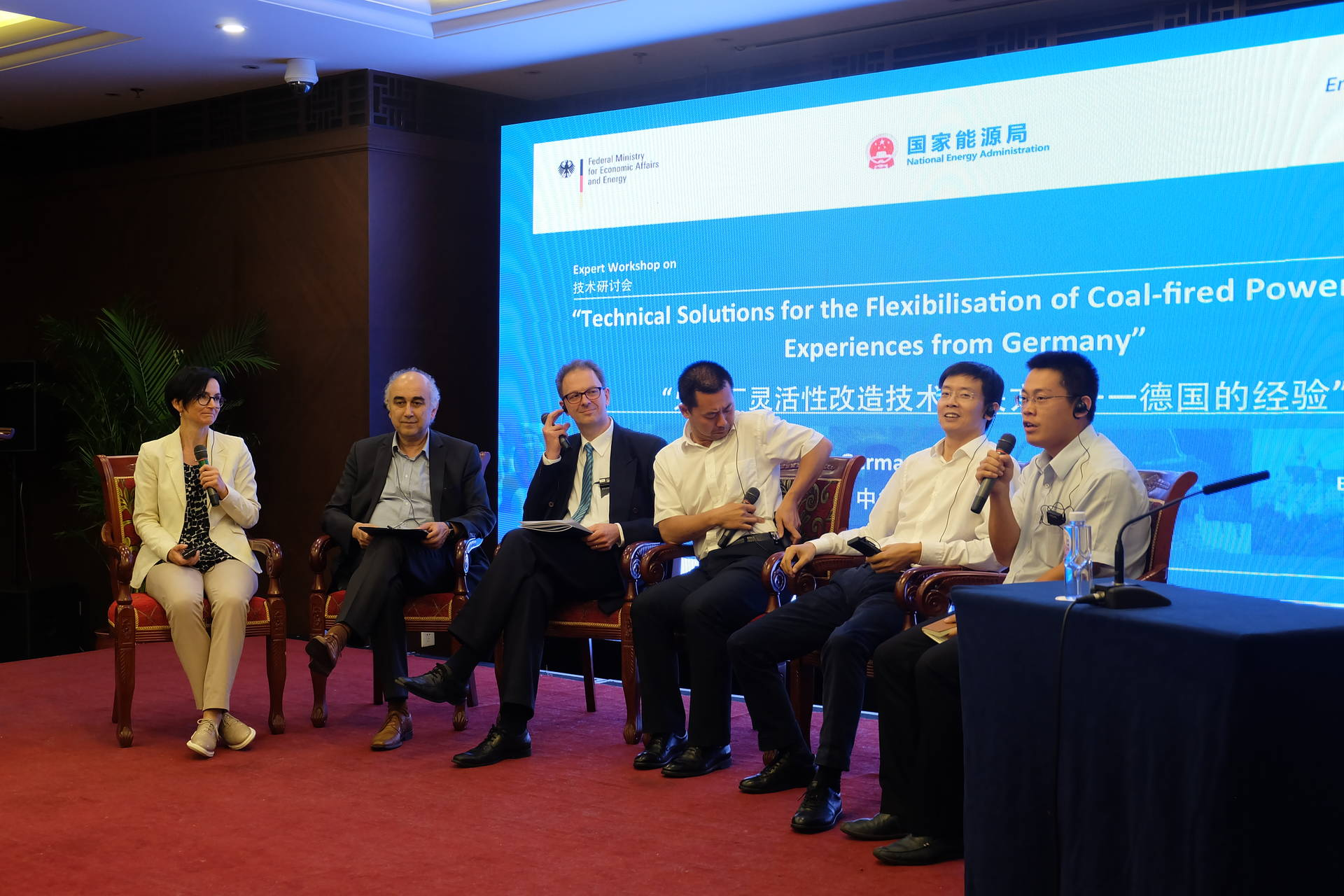 "Panel discussion at the expert workshop ""Flexibilizing Coal-Fired Power Plants"""