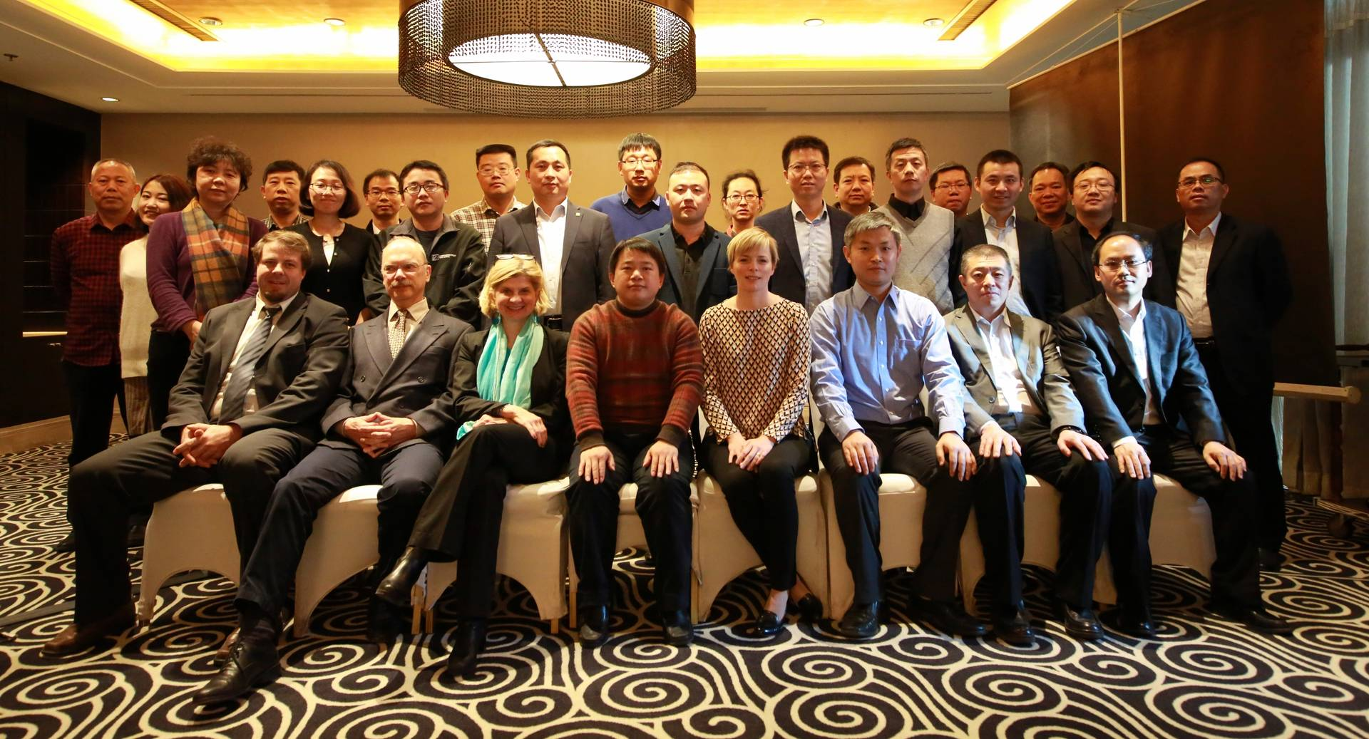 "Group photo of kick-off event ""Sino-German Demonstration Project on Energy Efficiency in Industry""."